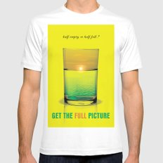 Get The Full Picture MEDIUM Mens Fitted Tee White