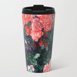 Psychedelic summer florals Travel Mug