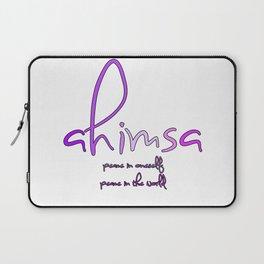 AHIMSA peace in oneself peace in the world Laptop Sleeve
