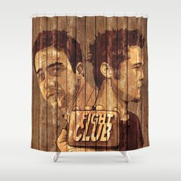 first rule of fig*t club Shower Curtain