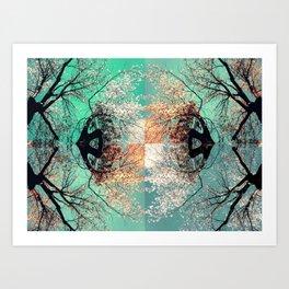 autumn tree - vessel pattern 2 Art Print
