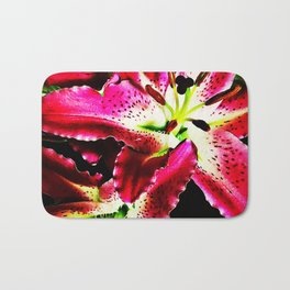Fragrant red lilies Bath Mat