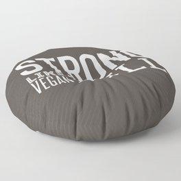 Strong Like Vegan Bull Floor Pillow