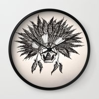 skeleton Wall Clocks featuring Skeleton by TwistedHand