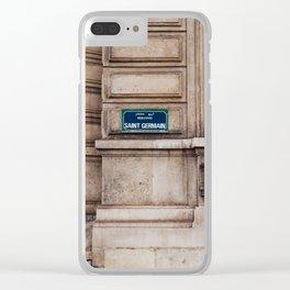 Saint Germain II Clear iPhone Case