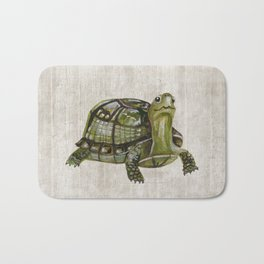 Little Turtle, Forest Animals, Woodland Decor, Woodland Art, Bath Mat