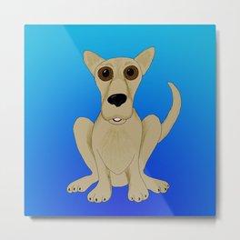 Basic Brown Dog Metal Print