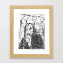 Krispy Framed Art Print