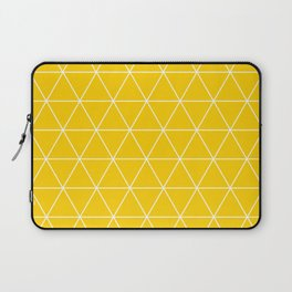 Triangle yellow-white geometric pattern Laptop Sleeve