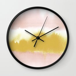 Blush & Gold Rush Wall Clock