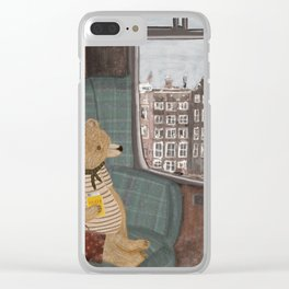 a new adventure for bear Clear iPhone Case