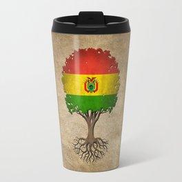 Vintage Tree of Life with Flag of Bolivia Travel Mug