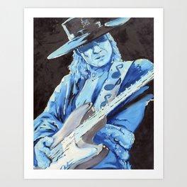 """Stevie Ray Vaughn"" Art Print"