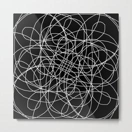 Black and White Simplicity Metal Print