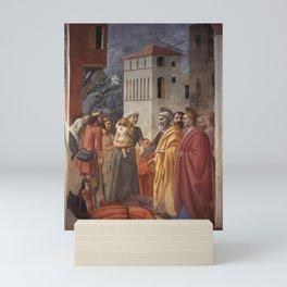 Masaccio - The Distribution of Alms and Death of Ananias Mini Art Print