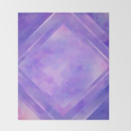 Mosaic Tile // Violet Watercolour Throw Blanket