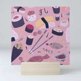 Sushi Bento Illustration Mini Art Print