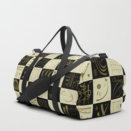 Kandinsky - Black and Gold Pattern - Abstract Art Duffle Bag