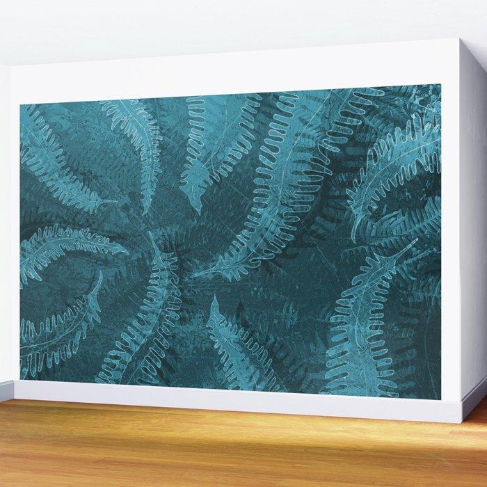 Ferns (light) abstract design Wall Mural