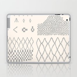 Moroccan Patchwork in Cream and Grey Laptop & iPad Skin