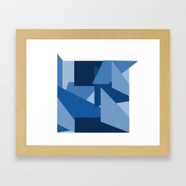 Blu-Geometric Framed Art Print