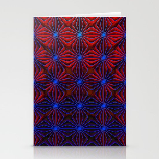 Complexities in Blue and Red Stationery Cards