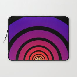 Blue, Red, and Yellow Circles Laptop Sleeve