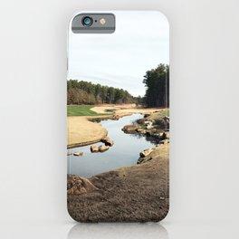 Golf Creek Winding iPhone Case