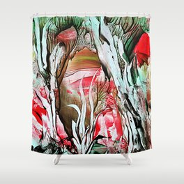 TreeStump Shower Curtain