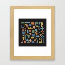 Colorful Shapes Framed Art Print