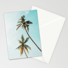 Palm Tree Beach Summer Stationery Cards