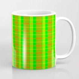 Lime Bars Plaid Coffee Mug