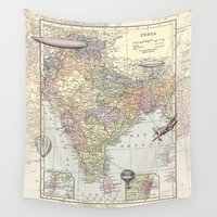 airplanes Wall Tapestries featuring Travel to India by Catherine Holcombe