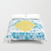 lemon Duvet Covers featuring Lemon by By Myyna