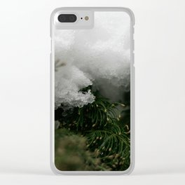 Natural Lace Clear iPhone Case