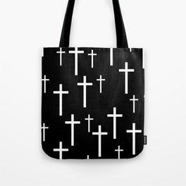 Crosses (Black) Tote Bag