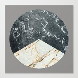 Water Meets Marble Canvas Print