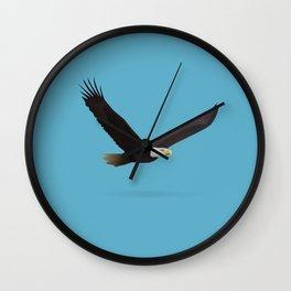 Geometric Bald Eagle - Modern Animal Art Wall Clock