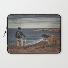Man at Highs Contemplating The Landscape Laptop Sleeve