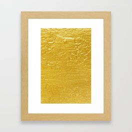 Solid Gold Paint Texture Framed Art Print