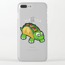 TURTILLA Tortilla Turtle Mexican Fast Food Gift Clear iPhone Case