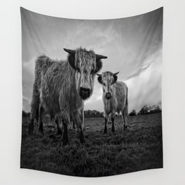 High Park Cow Mono Wall Tapestry