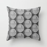 death star Throw Pillows featuring Star Wars Death Star by foreverwars