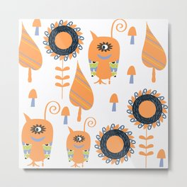 Monsters  pattern v4 Metal Print