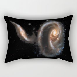 Galaxy Rose Peach Rectangular Pillow