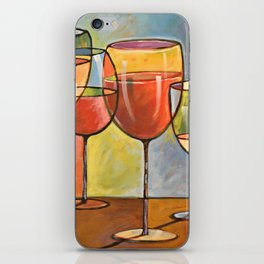 Whites and Reds ... abstract wine glass art, kitchen bar prints iPhone Skin