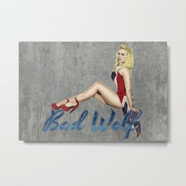 Blonde in a Union Jack...A specific one Metal Print