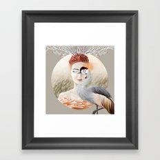 Bird Crane Framed Art Print
