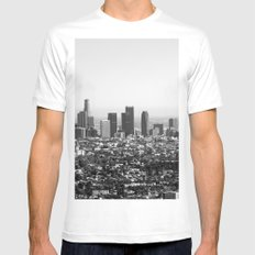 Los Angeles, CA Mens Fitted Tee MEDIUM White