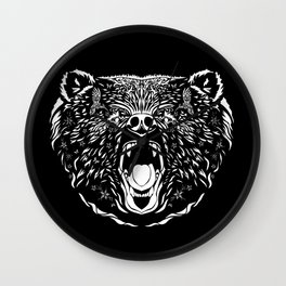 Grizzly Bear Totem Wall Clock